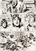 Original Comic Art:Panel Pages, Russ Manning Tarzan and the Beast Master Story Page 9Original Art (c. 1972)....
