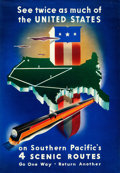 """Movie Posters:Miscellaneous, Southern Pacific Railway (1938). Full-Bleed Travel Poster (16"""" X23"""") Stanley Brower Artwork.. ..."""