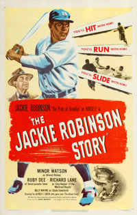 "The Jackie Robinson Story (Eagle Lion, 1950). One Sheet (27"" X 41"")"