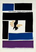 "Movie Posters:Drama, The Man with the Golden Arm by Saul Bass (Art Krebs Screen Studio,1984). Silk Screen Poster (25"" X 35"").. ..."