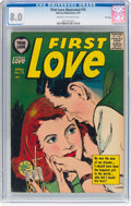Silver Age (1956-1969):Romance, First Love Illustrated #75 File Copy (Harvey, 1957) CGC VF 8.0Cream to off-white pages....