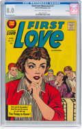 Silver Age (1956-1969):Romance, First Love Illustrated #77 File Copy (Harvey, 1957) CGC VF 8.0Light tan to off-white pages....