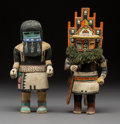 American Indian Art:Kachina Dolls, Two Hopi Kachina Dolls... (Total: 2 Items)