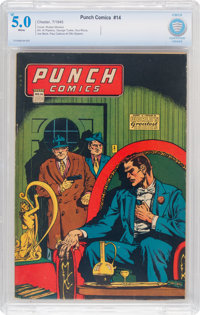 Punch Comics #14 (Chesler, 1945) CBCS VG/FN 5.0 White pages