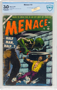 Menace #10 (Atlas, 1954) CBCS GD/VG 3.0 Off-white to white pages