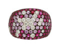 Estate Jewelry:Rings, Diamond, Ruby, Pink Sapphire, White Gold Ring . ...