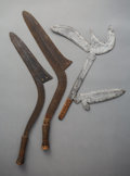 Tribal Art, Three Central African Throwing Knives