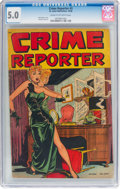Golden Age (1938-1955):Crime, Crime Reporter #3 (St. John, 1948) CGC VG/FN 5.0 Cream to off-white pages....