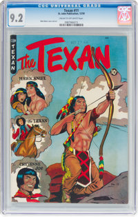 The Texan #11 (St. John, 1950) CGC NM- 9.2 Cream to off-white pages