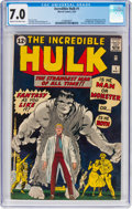 Silver Age (1956-1969):Superhero, The Incredible Hulk #1 (Marvel, 1962) CGC FN/VF 7.0 Cream tooff-white pages....