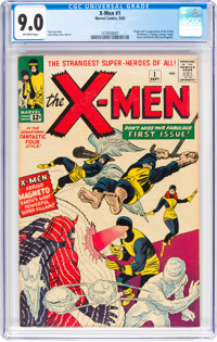 X-Men #1 (Marvel, 1963) CGC VF/NM 9.0 Off-white pages