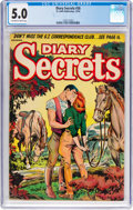 Golden Age (1938-1955):Romance, Diary Secrets #26 (St. John, 1954) CGC VG/FN 5.0 Off-white to white pages....