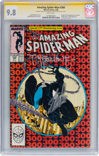 The Amazing Spider-Man #300 Signature Series - Stan Lee and Todd McFarlane (Marvel, 1988) CGC NM/MT 9.8 White pages
