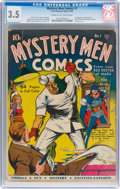 Golden Age (1938-1955):Superhero, Mystery Men Comics #1 (Fox, 1939) CGC VG- 3.5 Cream to off-white pages....