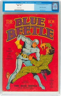 Blue Beetle #1 (Fox Features Syndicate, 1939) CGC FN- 5.5 Off-white pages