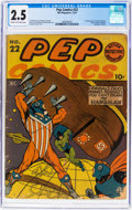 Golden Age (1938-1955):Humor, Pep Comics #22 (MLJ, 1941) CGC GD+ 2.5 Cream to off-white pages....