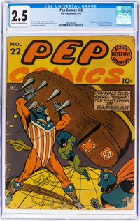 Pep Comics #22 (MLJ, 1941) CGC GD+ 2.5 Cream to off-white pages