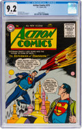 Silver Age (1956-1969):Superhero, Action Comics #215 (DC, 1956) CGC NM- 9.2 White pages....