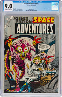 Space Adventures #12 (Charlton, 1954) CGC VF/NM 9.0 Off-white to white pages