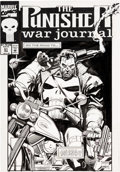Original Comic Art:Covers, Ron Garney and Klaus Janson Punisher War Journal #51 Cover Original Art (Marvel, 1993)....