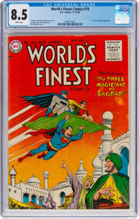 World's Finest Comics #79 (DC, 1955) CGC VF+ 8.5 White pages