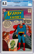 Silver Age (1956-1969):Superhero, Action Comics #239 (DC, 1958) CGC VF+ 8.5 Cream to off-whitepages....
