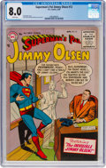 Silver Age (1956-1969):Superhero, Superman's Pal Jimmy Olsen #12 (DC, 1956) CGC VF 8.0 Whitepages....