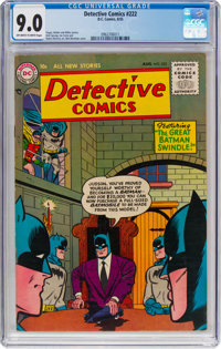 Detective Comics #222 (DC, 1955) CGC VF/NM 9.0 Off-white to white pages