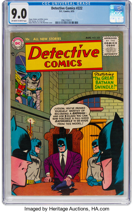 Detective Comics #222 (DC, 1955) CGC VF/NM 9.0 Off-white to white pages....