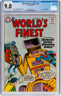 Silver Age (1956-1969):Superhero, World's Finest Comics #99 (DC, 1959) CGC VF/NM 9.0 Off-white towhite pages....