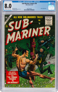 Sub-Mariner Comics #39 (Timely, 1955) CGC VF 8.0 Off-white to white pages