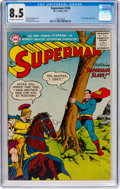 Silver Age (1956-1969):Superhero, Superman #105 (DC, 1956) CGC VF+ 8.5 Off-white to white pages....