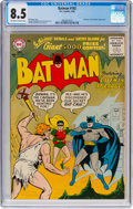 Silver Age (1956-1969):Superhero, Batman #102 (DC, 1956) CGC VF+ 8.5 Off-white to white pages....
