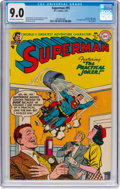 Golden Age (1938-1955):Superhero, Superman #95 (DC, 1955) CGC VF/NM 9.0 Off-white to white pages....