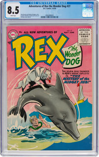 Adventures of Rex the Wonder Dog #27 (DC, 1956) CGC VF+ 8.5 White pages