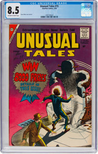 Unusual Tales #15 (Charlton, 1959) CGC VF+ 8.5 Off-white to white pages