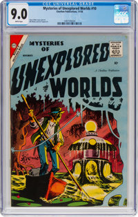 Mysteries of Unexplored Worlds #10 (Charlton, 1958) CGC VF/NM 9.0 White pages