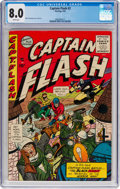 Golden Age (1938-1955):Superhero, Captain Flash #2 (Sterling, 1955) CGC VF 8.0 White pages....