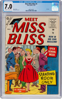 Meet Miss Bliss #4 (Atlas, 1955) CGC FN/VF 7.0 Off-white to white pages
