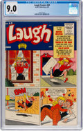 Golden Age (1938-1955):Humor, Laugh Comics #69 (Archie, 1955) CGC VF/NM 9.0 White pages....