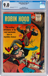 Robin Hood Tales #1 (Quality, 1956) CGC VF/NM 9.0 Off-white to white pages