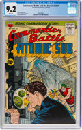 Golden Age (1938-1955):War, Commander Battle And The Atomic Sub #6 (ACG, 1955) CGC NM- 9.2White pages....