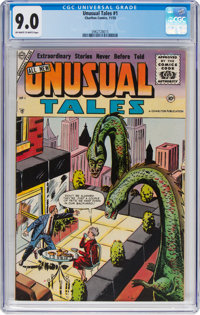 Unusual Tales #1 (Charlton, 1955) CGC VF/NM 9.0 Off-white to white pages
