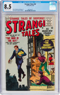 Golden Age (1938-1955):Horror, Strange Tales #38 (Atlas, 1955) CGC VF+ 8.5 Off-white to white pages....