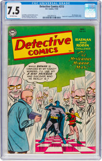 Detective Comics #213 (DC, 1954) CGC VF- 7.5 Off-white pages