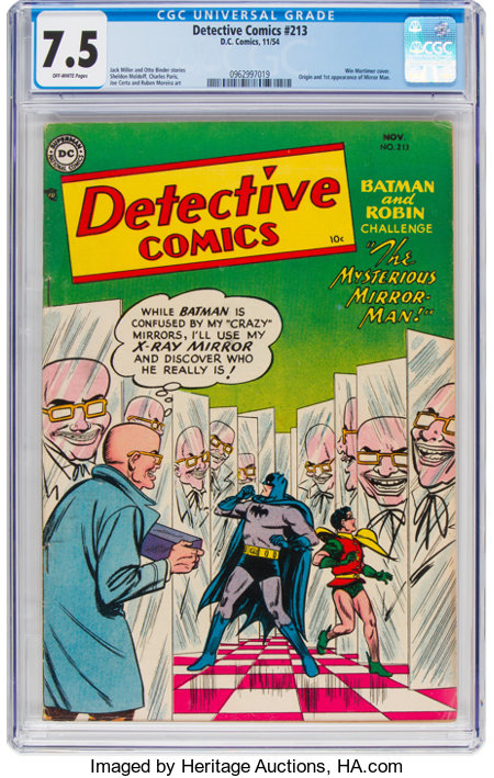 Detective Comics #213 (DC, 1954) CGC VF- 7.5 Off-white pages....