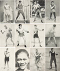 Boxing Cards:General, 1923 Exhibit Boxing Near Set (46 different). ...
