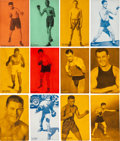 Boxing Cards:General, 1928 Exhibit Boxing Near Set (138/150) - Dated & Undated. ...