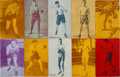 Boxing Cards:General, Rare 1928-29 Exhibit Boxing Double Headers (25 different). ...