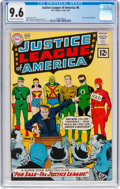 Silver Age (1956-1969):Superhero, Justice League of America #8 (DC, 1962) CGC NM+ 9.6 Off-white towhite pages....